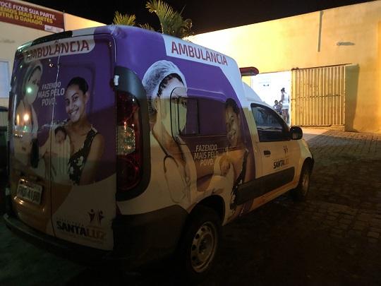 Vítimas foram socorridas para o hospital de Santaluz e em seguida transferidas para outra unidade | Foto: Notícias de Santaluz