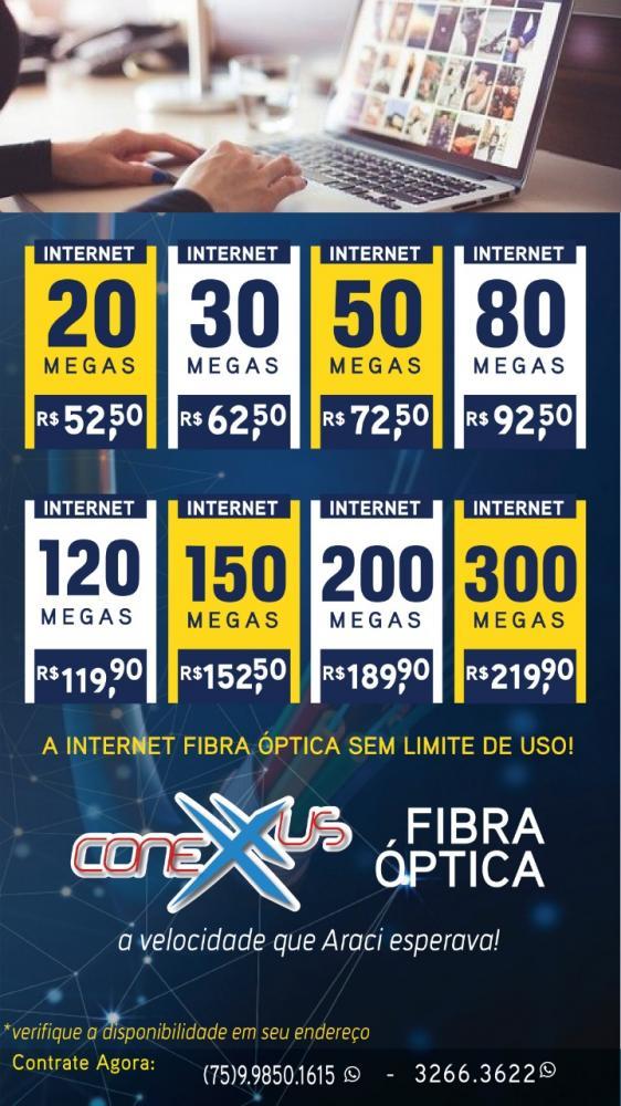 CONEXXUS FIBRA, CONFIRA OS PREÇOS E OS PACOTES